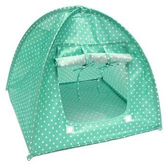 Pet Kitten Cat Kitten Mini Nylon Camp Tent Bed Play House Sun Shelter Green - intl (image 0)