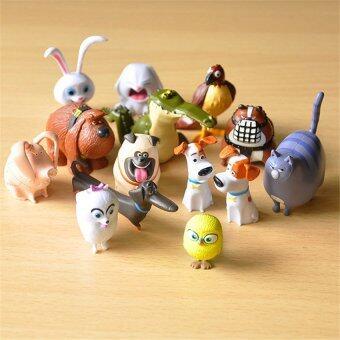 14pcs/lot The Secret Life of Pets Snowball Gidget Mel Max Duke DogsCats Rabbit PVC Action Figure Toys Juguetes Decoration .. - intl