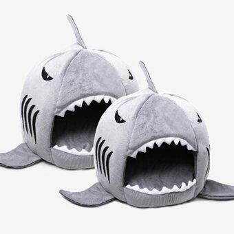 Leegoal อุ่นในร่มแมวสุนัขปลาฉลามแมวสัตว์เลี้ยงลูกสุนัขบ้านที่นอนบนโซฟาด้วยเสื่อ (สีเทา S)