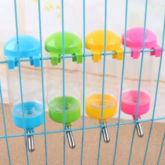 Harga 400ML Automatic Pet Dog Cage Water Bottle Foldable Tank Drinking Health Feeder (Color: ramdom) - intl