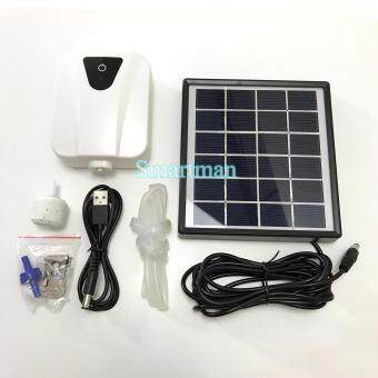 Smartman-Solar Pumb 0.5w ปั๊มออกซิเจนโซล่าเซลล์ 0.5วัตต์ (สีขาว)