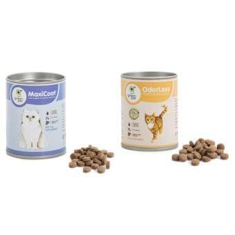 แพ็คคู่OdorLessสำหรับแมว50ก(100เม็ด) + MaxiCoatสำหรับแมว50ก(100เม็ด)