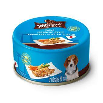Marvo มาร์โว่ อาหารสุนัขแบบเปียก รสเทปันยากิ สไตล์ญี่ปุ่น 80g. (6 Unit)