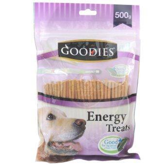 Goodies เอ็นเนอร์จี้ทรีต แท่งกลมป๊อกกี้ รสตับ ขนมสุนัข500กรัม สีน้ำตาล