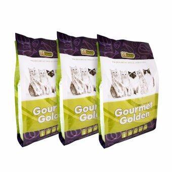 GOURMET GOLDEN กรูเม่ โกลด์เดิ้น อาหารแมวเม็ดสูตรเกาหลี 1.5kg แพ็ค 3 ถุง สูตรควบคุมก้อนขน