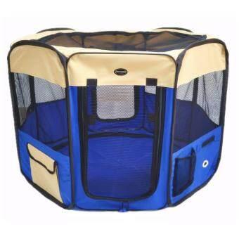 Smartshopping กรงสุนัขพับได้ สีน้ำเงิน (size L ขนาด 60x100 cm.)
