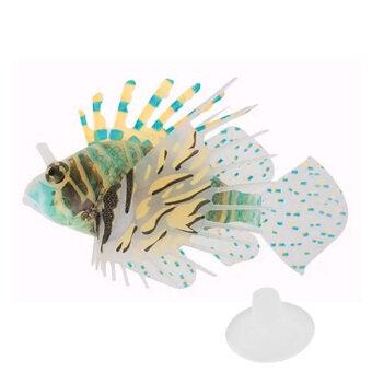 Plastic Floating Glowing Wiggling Tail Lionfish Aquarium Ornament Color 1 - intl