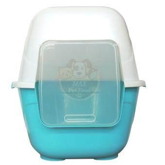Pet8 ห้องน้ำแมว แบบโดม size L 62X52X51Cm. DGR07 สีฟ้า