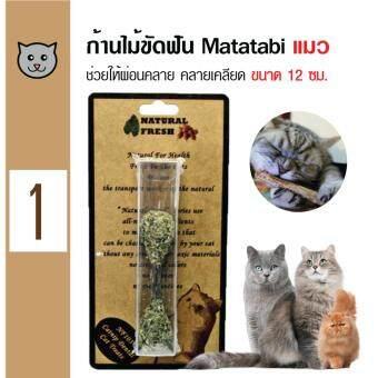 Catwant Stick ก้านไม้ขัดฟัน Matatabi ตำแยแมว กัญชาแมว ขนมแมว ของเล่นแมว ขนาด 12 ซม.