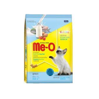 Me-O Kitten Ocean Fish 400g x 4 Units มีโอ อาหารแมว(แบบเม็ด) รสปลาทะเล สำหรับลูกแมว ขนาด 400 กรัม 4ถุง