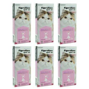 Fiproline ฟิโปรไลน์ สปอต ออน แคท สำหรับแมว น้ำหนัก1กิโลกรัมขึ้นไป (บรรจุ1หลอด/กล่อง) x 6 กล่อง