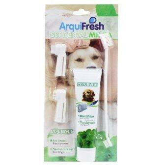 Arquifresh ยาสีฟันสำหรับสุนัข รสมินท์ ขนาด 100 กรัม พร้อมแปรง 1 ชุด