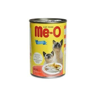 Me-O Mackerel อาหารแมวชนิดเปียกสำหรับแมวทุกสายพันธุ์ สูตรปลาทู 400กรัม 5 กระป๋อง