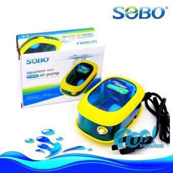 ปั๊มลม SOBO SB-9903A (ฟ้าเหลือง) ลม1ทาง ปั๊มออกซิเจน
