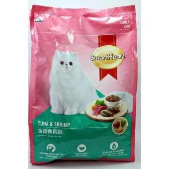 Smartheart อาหารแมวโต รสปลาทูน่าและกุ้ง ขนาด 7kg(...)