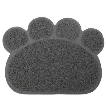 Harga Dog Puppy Paw Shape Placemat Pet Cat Dish Bowl Feeding Food PVC Mat Wipe Clean - intl