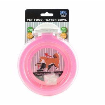 DYL Cage Hanger Plastic Bowl DY-3 ชามให้อาหารหรือน้ำสำหรับติดกรงสัตว์เลี้ยง รุ่น DY-3 คละสี (ฟ้า ชมพู)