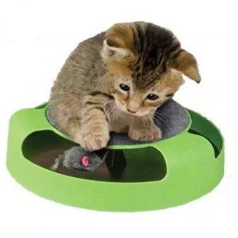 VAUKO :CATCH THE MOUSE ของเล่นแมวไล่จับหนู (สีเขียว) รุ่น CAT TOY-001