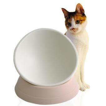 Harga Pethouzz Flat face cat foods bowl(White)