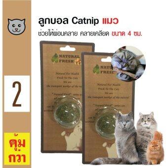 Catwant Catnip ลูกอมแคทนิป ตำแยแมว กัญชาแมว ขนมแมว ของเล่นแมว ขนาด 4 ซม. x 2 ลูก