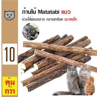 Catwant Matatabi Catnip ก้านไม้มาทาทาบิ ตำแยแมว กัญชาแมว ขนมแมว ของเล่นแมว ขนาดเล็ก (5ชิ้น/ซอง) x 2 ซอง