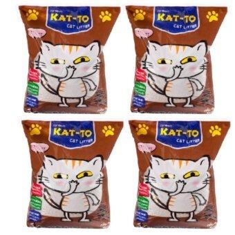 Kat-to Cat Litter ทรายแมว กลิ่นกาแฟ ขนาด 5 ลิตร ( 4 units )