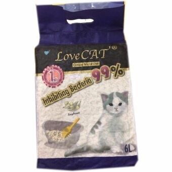 เปรียบเทียบราคา LOVE CAT Climbing Tofu Cat Litter 6L. ทรายแมวผลิตจากกากถั่วเหลือง