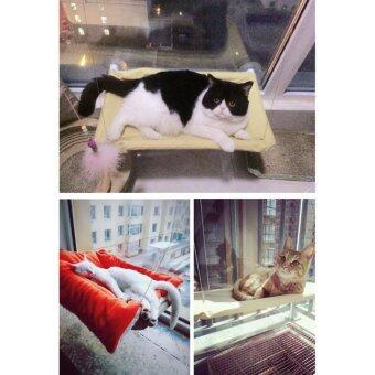 สนใจซื้อ Maeva Shop เปลแมว แสนอบอุ่น ที่นอนสัตว์เลี้ยงยึดติดกับหน้าต่างสีเบจ