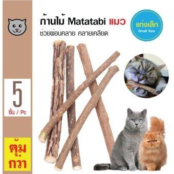 ซื้อ Matatabi Catnip ก้านไม้ตำแยแมว ขนมแมว ของเล่นแมว เพื่อคลายเคลียดเพลิดเพลิน ขนาดเล็ก สำหรับแมวทุกสายพันธุ์ (5 ชิ้น/ แพ็ค)
