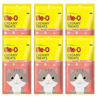 Me-O (Meo) Cat Treat SalmonFlavor 60g (6 units) มีโอ ขนมแมวเลีย รสแซลมอน 60 กรัม (6 ห่อ)