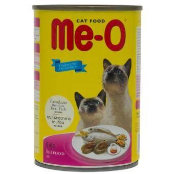 Me-O Seafood อาหารแมวชนิดเปียกสำหรับแมวทุกสายพันธุ์ สูตรซีฟู้ด 400กรัม 6 กระป๋อง