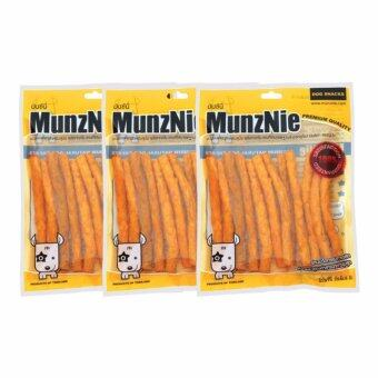 จัดโปรโมชั่น MUNZNIE ขนมขบเคี้ยวสำหรับสุนัข ครันชี่นิ่ม รสชีส บรรจุ 180g (x3packs)