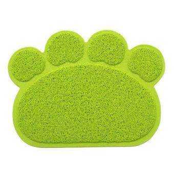 niceEshop Dog Paw Shape Feeding Cat Litter Mat Non-slip PVC Pet Dog\nDish Water Bowl Easy Clean-Premium and Soft Mats. - intl