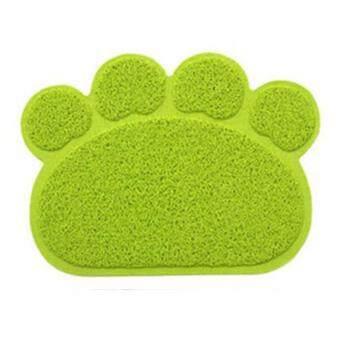 แผ่นดักทรายแมว สีเขียวสะท้อนแสง