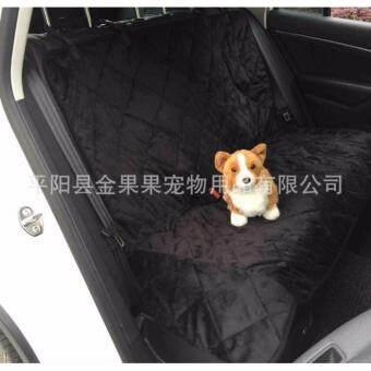 ที่รองเบาะรถยนต์ สำหรับสุนัขและแมว (รุ่นผ้าลูกฟูก)เบาะหลัง สีดำ