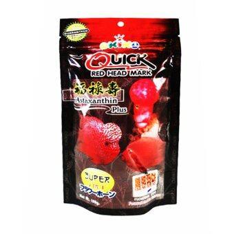 อาหารปลาหมอสี Quick Red Head Mark 100g เม็ดM อาหารปลาหมอสี เร่งมุก แดง โหนก