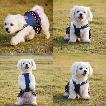 Size S Small Pet DogPuppy Cat Coat เสื้อผ้าสุนัขขนาดเล็กชุดสุนัขขนาดเล็ก ชุดน้องหมา ยีนส์เสื้อผ้าเครื่องแต่งกาย - 4
