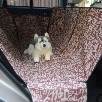 เบาะคลุมรถยนต์สำหรับสุนัข แผ่นรองกันเปื้อนสำหรับสุนัขในรถยนต์แผ่นรองกันเปื้อนเบาะรถยนต์สำหรับสุนัข ผ้าคลุมสำหรับเบาะหลังรถเก๋งรถ SUV (ABC สีน้ำตาล)