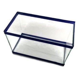 ตู้เลี้ยงกุ้ง ปลา เต่า สวยงาม กระจกใส ขนาด 12\(31x15.5x20) พร้อมปั๊มกรองบน