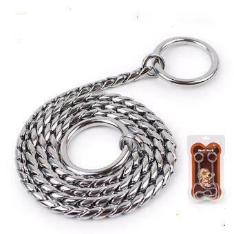 Universal New Style Adjustable Training Dog Collar Snake Chain\nStainless Steel - intl
