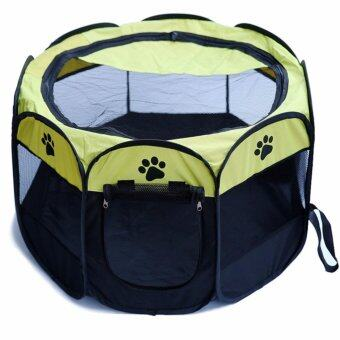 Voice กรงสุนัข กรงสนามสำหรับสุนัข รุ่น QSPT-001b-yellow