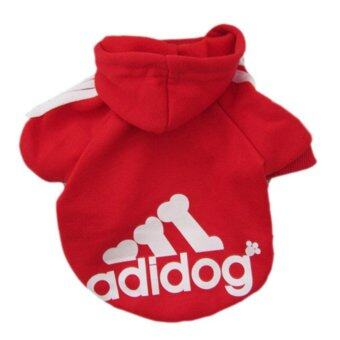 Harga YingWei Dog Pet Cat Sweater Hoody Coat Jacket Puppy clothes L(Red)- intl