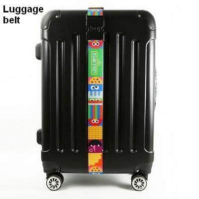 ขายดีมาก! ส่งฟรี kerry !!! ขาย Luggage Belt สายรัดกระเป๋าเดินทาง สายคาด สายล็อค มีรหัสล็อคบนสาย เซซามี สตรีท สีเขียว