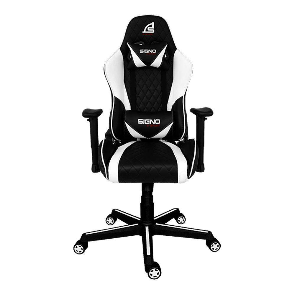 สอนใช้งาน  GAMING CHAIR (เก้าอี้เกมมิ่ง) SIGNO BAROCCO GC-203BW (BLACK/WHITE)