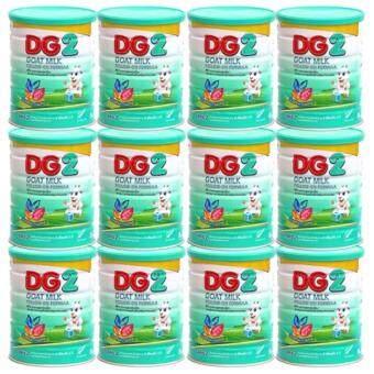 DG-2 Goat Milk Formula ดีจี2 โกลด์ มิลค์ สูตร1นมแพะสำหรับเด็กแรกเกิด - 1 ปี 400 กรัม/กระป๋อง (12กระป๋อง)