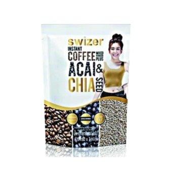 Swizer Instant Coffee Mixed ACAI&CHAISEEDกาแฟปรุงสำเร็จรูปชนิดผง ผสม อาซาอิ และเมล็ดเจีย(20กรัมx7ซอง)