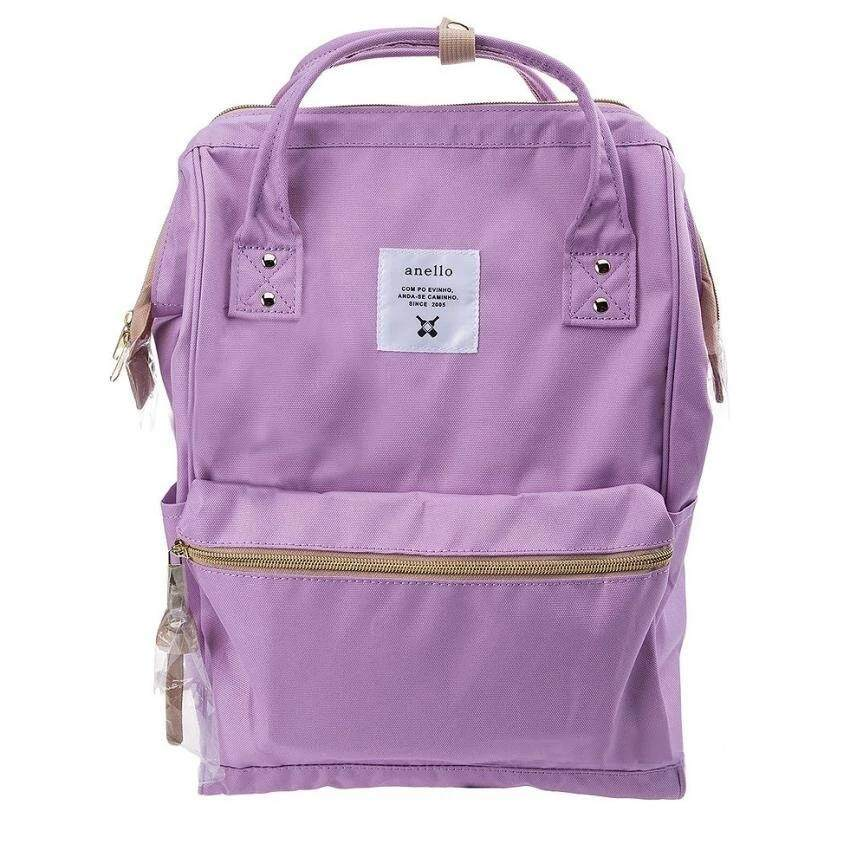 การใช้งาน  กาญจนบุรี Authentic Anello Japan Imported Canvas Unisex Multicolor Backpack - Purple