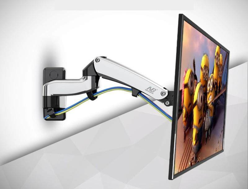 North Bayou NB F300 TV Wall Mount 30-40 inch Monitor Holder Gas Spring Free Lifting Swivel Stretchable Tilt Stands Aluminum Long Arm Bracket