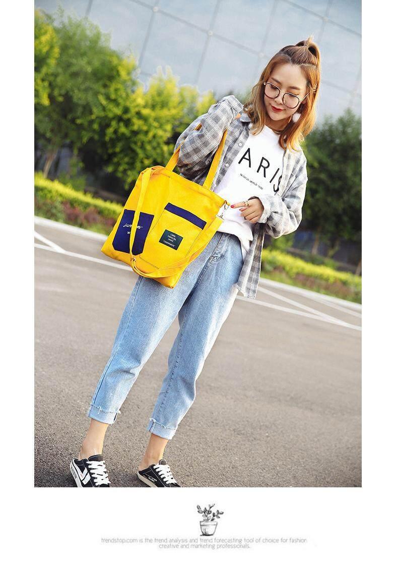 กระเป๋าถือ นักเรียน ผู้หญิง วัยรุ่น นครปฐม GP00213 กระเป๋าผ้า กระเป๋าผ้าสะพายข้าง กระเป๋าเดินทาง กระเป๋าแฟชั่น กระเป๋าสไตล์เกาหลี กระเป๋าถือผู้หญิง กระเป๋าสะพายไหล่ Travel Bag Hand Bag Shopping Bag Fashion Bag