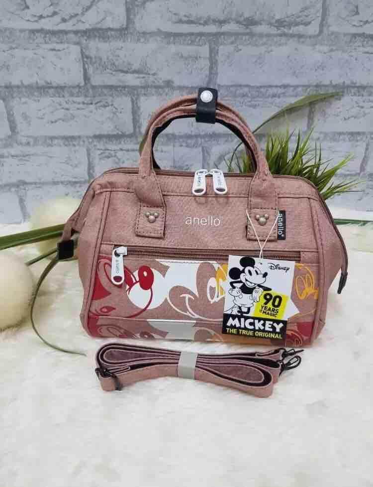 แม่ฮ่องสอน กระเป๋า Anello Mickey Limited Edition Shoulder Bag